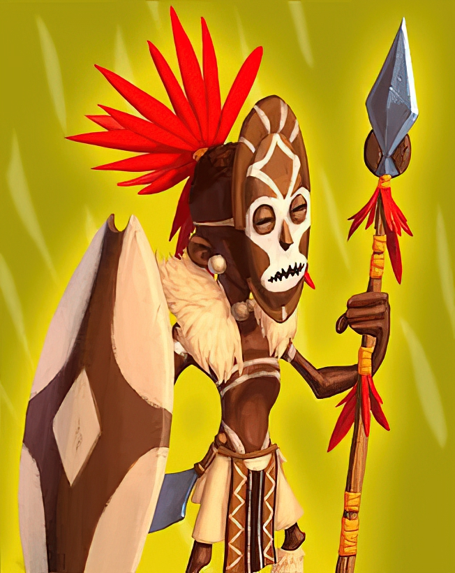 African Warrior Card in Coin Master