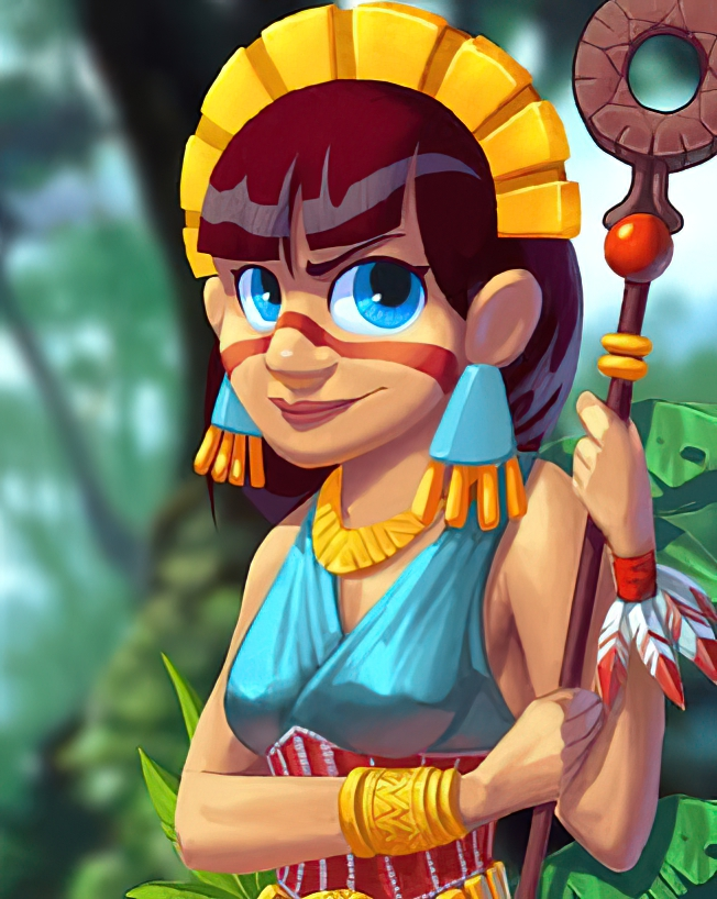 Aztec Princess Card in Coin Master