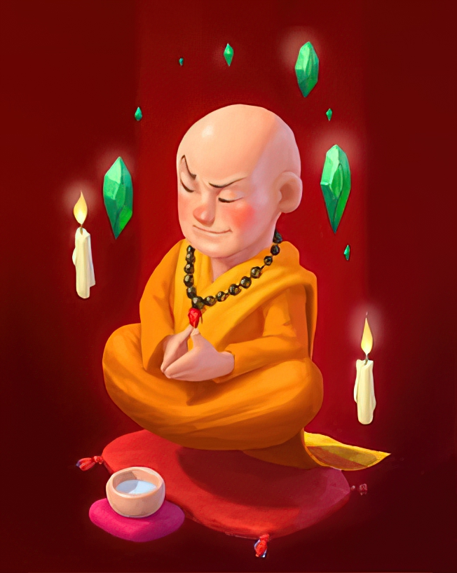 Holy Monk Card in Coin Master