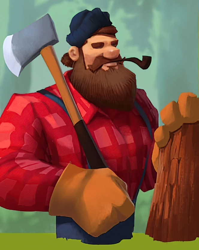 Lumberjack Bill Card in Coin Master