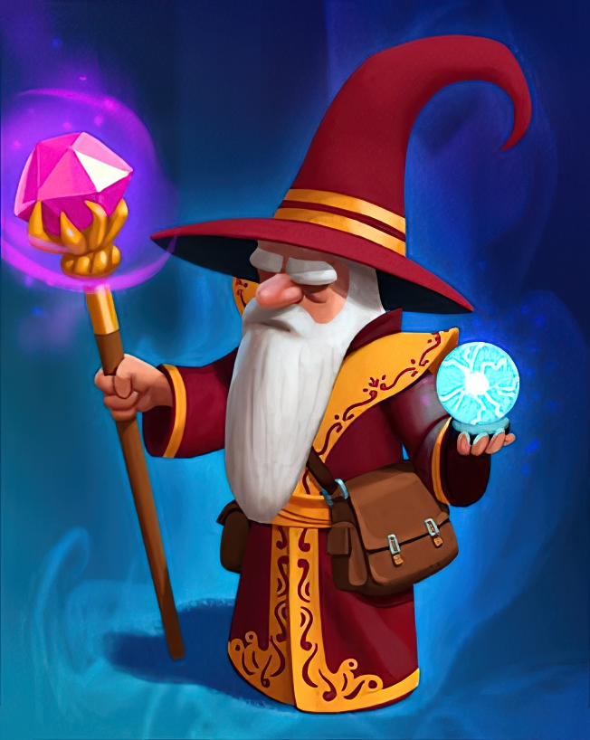 Mighty Wizard Card in Coin Master