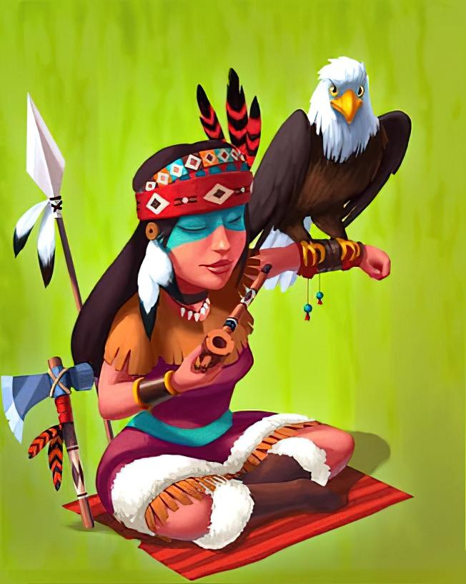 Pocahontas Card in Coin Master