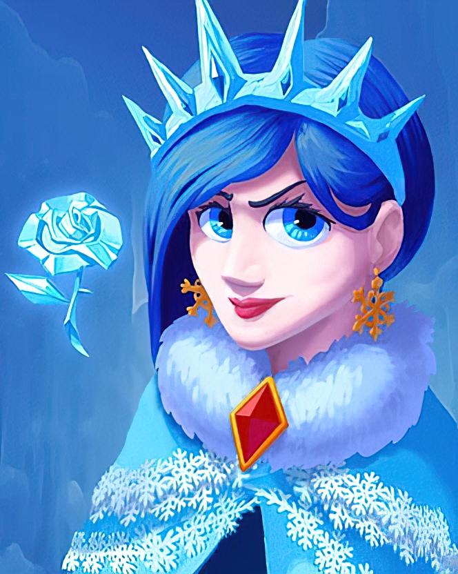 Winter Queen Card in Coin Master
