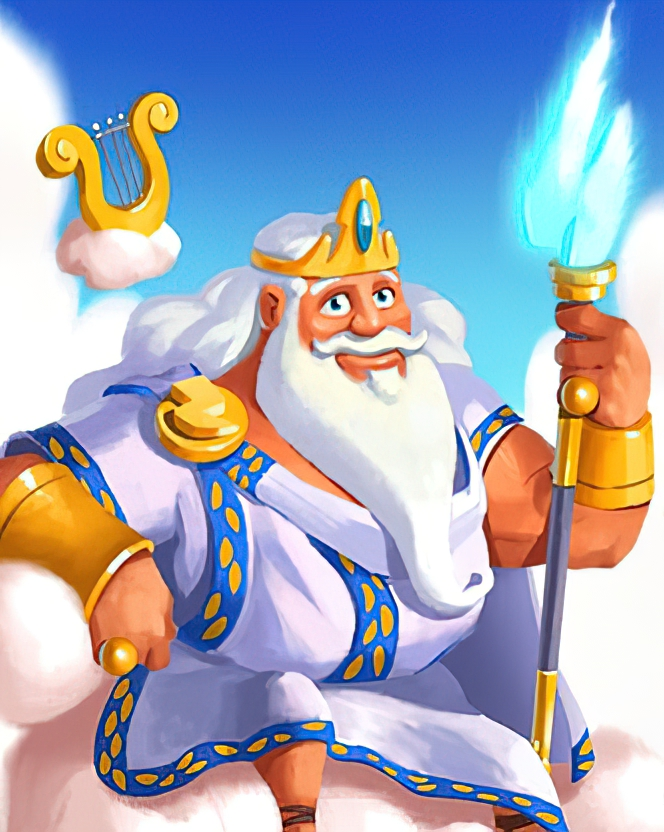 Zeus Card in Coin Master